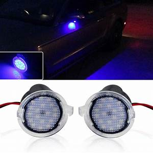 Mini Cooper Puddle Lights 2x Blue Led Side Mirror Puddle Light For Lincoln Mkz Mks