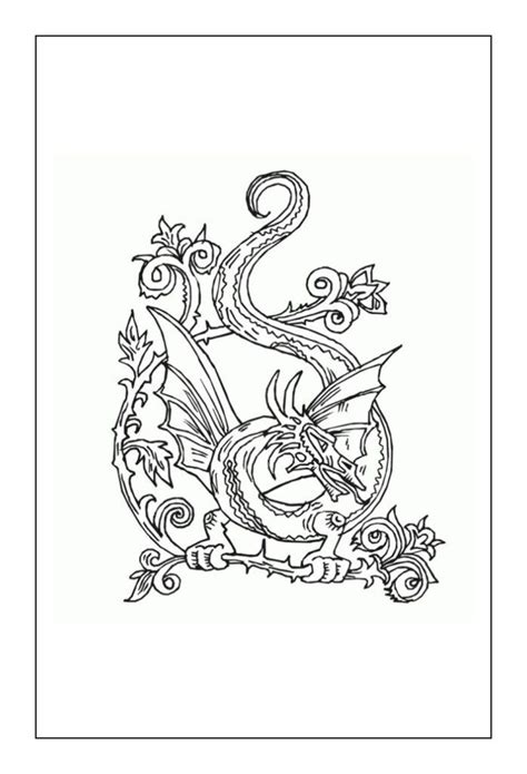 Dragon Coloring Pages Dragon coloring page Adult