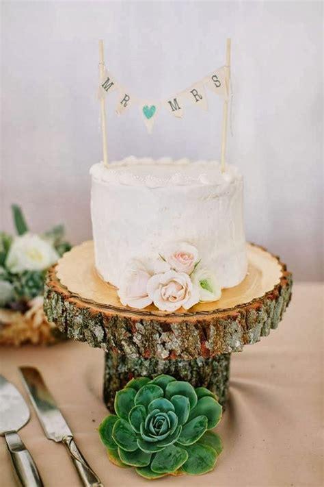 Small Wedding Cake Succulent Wedding Cake Wooden Cake