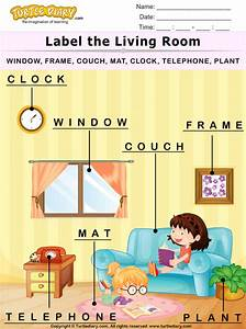 Label The Living Room Worksheet
