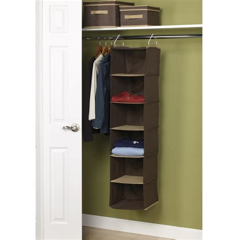 Closet Hangers by Household Essentials 6 Shelf Hanging Closet Organizer