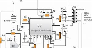 Modified Sine Wave Inverter Circuit Using Ic 3525  With