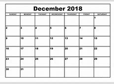 Get Free Download December 2018 A4 Calendar September