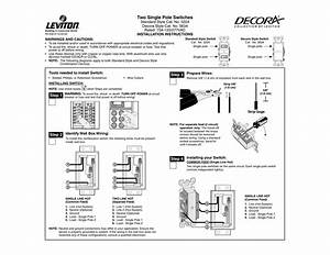 Leviton 6630 W Instructions