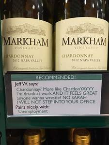 Local Stores Had Their Wine Labels Replaced With More
