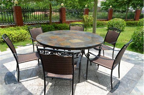 table de jardin chaise encastrable 63 39 39 slate outdoor patio dining table oceane