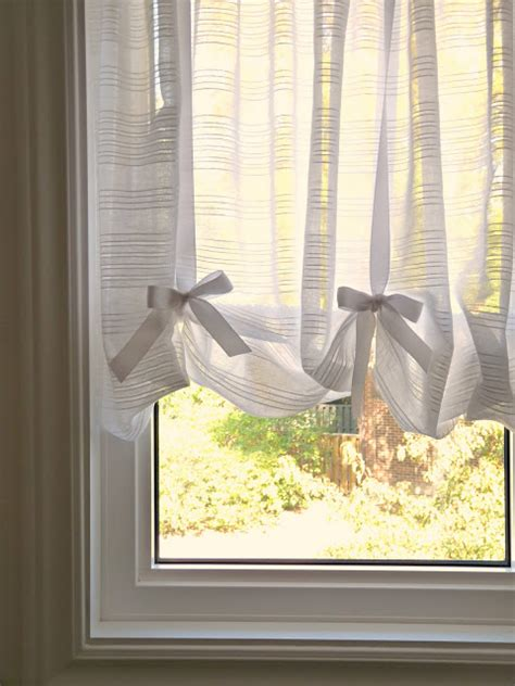 diy curtains  dining room window  compression rod