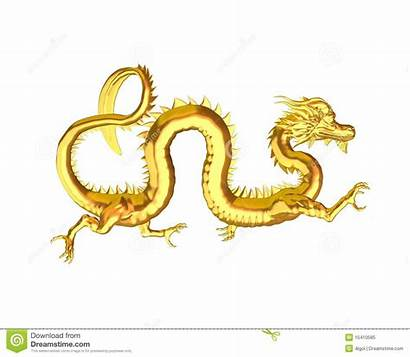 Dragon Chinese Golden Clipart Symbol 3d Royalty