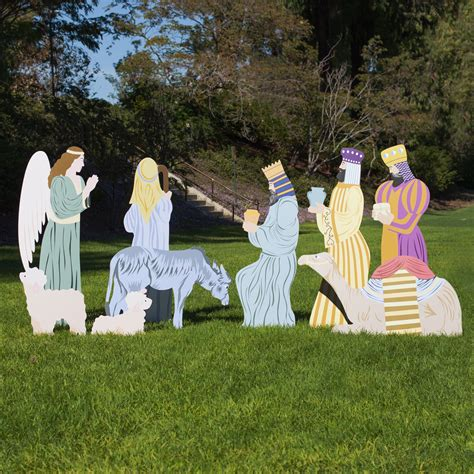 9 piece add on large outdoor nativity outdoor nativity