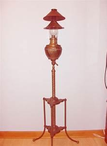 unique design rare antique brass floor piano oil lamp 3 With antique brass oil floor lamp