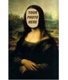 photomontage   mona lisa  put  face