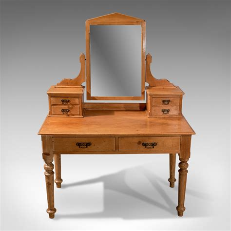 Antique Dressing Table, Victorian Pine, Mirrored Vanity