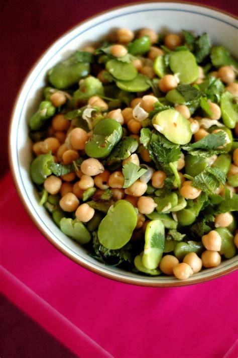 cuisine feve salade de fèves pois chiches le frigo magique
