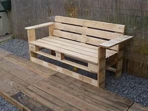 Sitzecke Aus Paletten : canap chaise banc un meuble en palette pour tous cuboak ~ Frokenaadalensverden.com Haus und Dekorationen