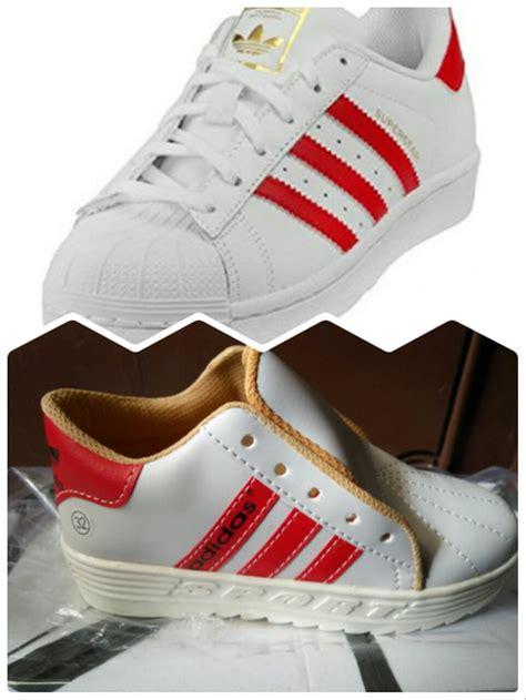 jual sepatu kets anak adidas superstar replika list merah di lapak zallyzeff