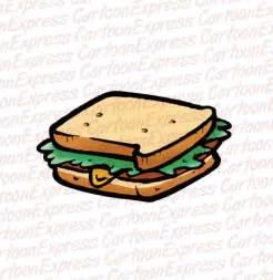 Cartoon Ham and Cheese Sandwich