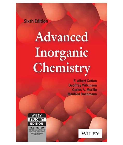 advanced inorganic chemistry