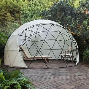 1000 idees sur le theme dome geodesique sur pinterest With tonnelle en bois pour jardin 1 jardin dhiver auvent dete serre geodesique garden