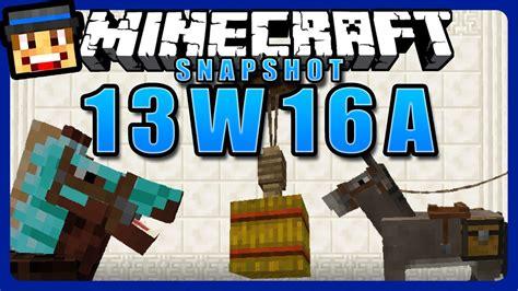 Minecraft Snapshot 13w16a Review  Tutorial Pferde