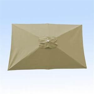 Toile Pour Parasol Déporté : toile pour parasol rectangle 200 x 300 cm couleur soie grege ~ Teatrodelosmanantiales.com Idées de Décoration