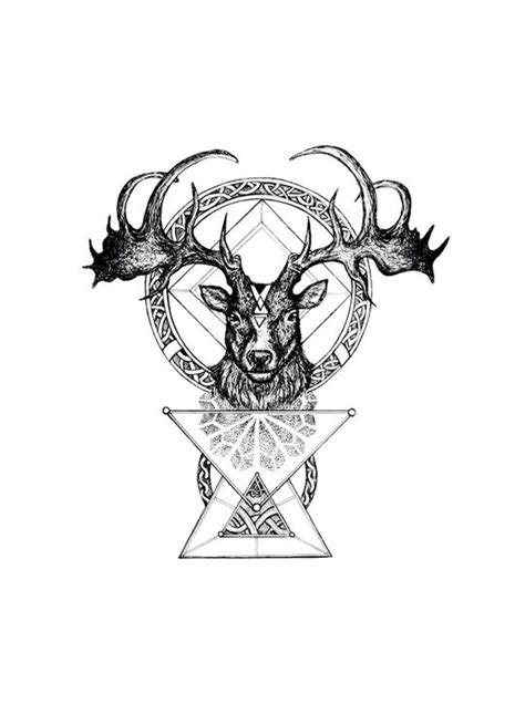 The Irish Elk by Mil Et Une | Grace | Tatouage, Tatouage graphique, Hibou tattoo