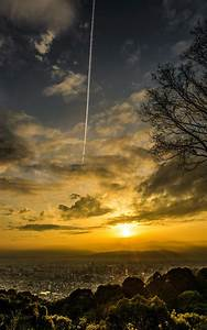sunset, , horizon, , clouds, , city, , portrait, display, wallpapers