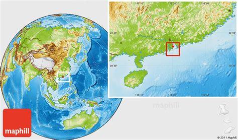 physical location map  macau