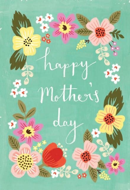 moms garden mothers day card  island
