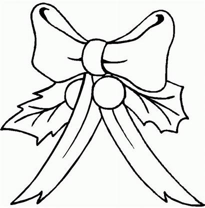 Coloring Pages Bows Christmas Colouring