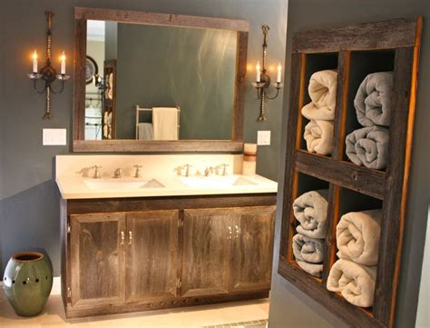 Frame A Rustic Bathroom Mirrors With Molding — Doherty House