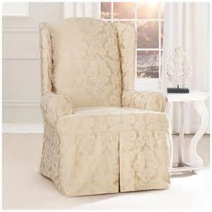 sure fit 174 middleton wing chair slipcover 581238