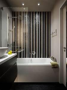 petite salle de bains avec baignoire douche 27 idees sympas With amenager une petite salle de bain avec baignoire