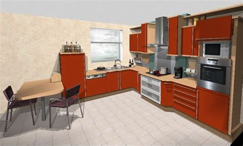 plan cuisine 3d en ligne cuisine plan de travail bois