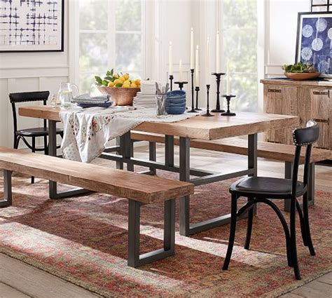Pottery Barn Griffin Dining Table by Griffin Reclaimed Table Bench 3 Dining Set