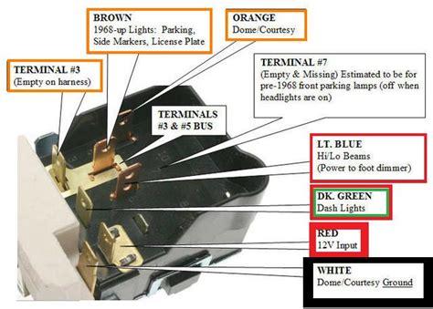 headlight switch wiring diagram the 1947 present