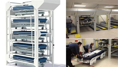 hospital bed storage spacesaver storage solutions