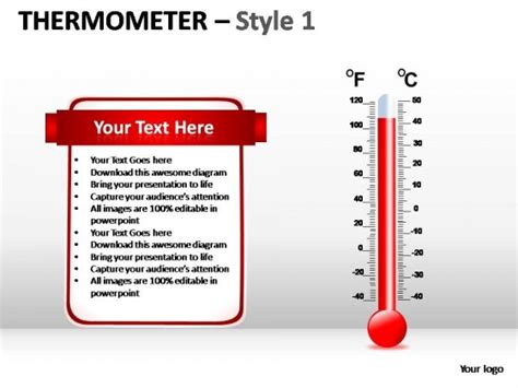 thermometer style  powerpoint