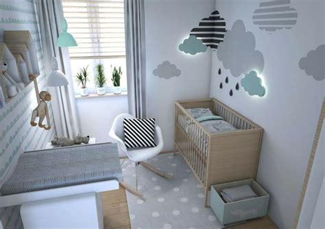 Modernes Babyzimmer In Mint Und Grau Attraktive