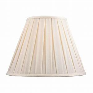 Pleated Lamp Shade in White Linen 140131 Destination