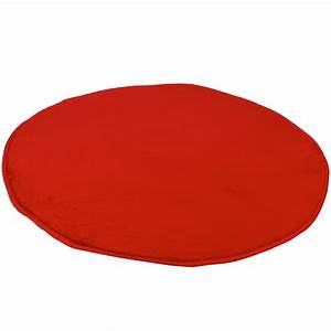 tapis rond rouge o 80 cm 100 polyester gifi With tapis rond 80 cm