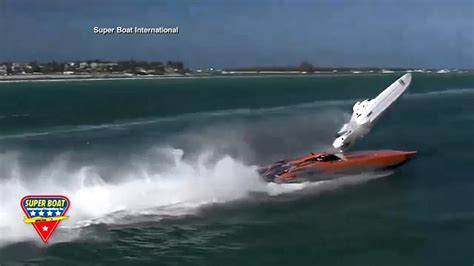 Boat Crash Florida Keys by Video Powerboat Goes Airborne Crashes During Race In
