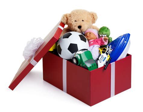 christmas toy donation party box of toys ganz parent club