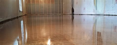 Copper Metallic Epoxy Floor in Apex, NC by Witcraft