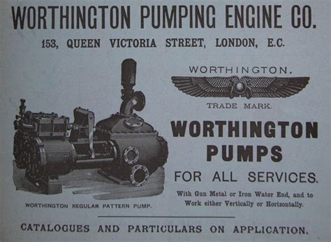 worthington pumping engine  graces guide