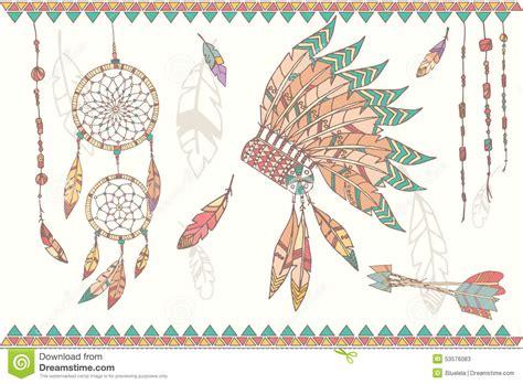 hand drawn native american dream catcher beads