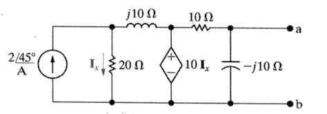 Thevenin Equivalent Circuit With Sinusoidal Current Source