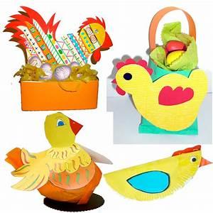 Bricolage De Paques : poules de p ques bricolages de poules de p ques sur t te ~ Melissatoandfro.com Idées de Décoration
