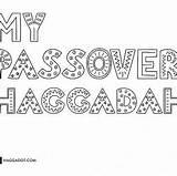 Haggadah Haggadot Passover sketch template