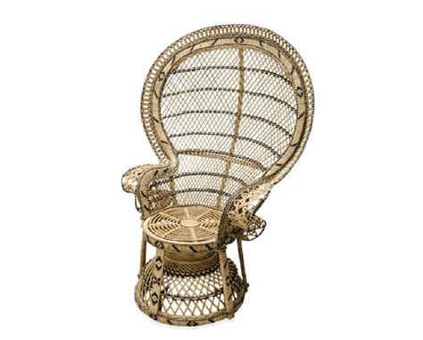 chaise emmanuelle grande chaise en rotin dans le style des ées 70 à la