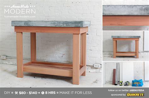 hecho en casa moderna diy ep madera concrete island